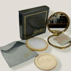 Stratton ENGLAND Gold Powder Mirror Compact